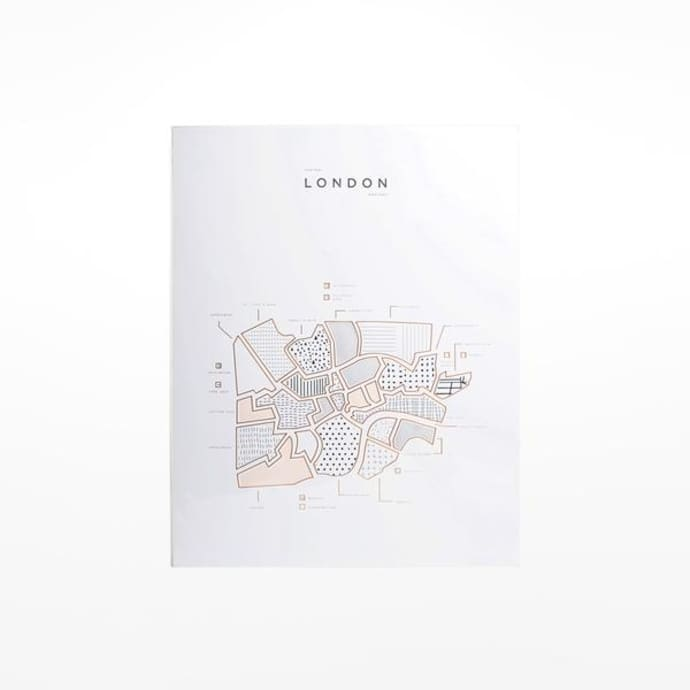 Simplified Map Of London.Roam Central London Map Print