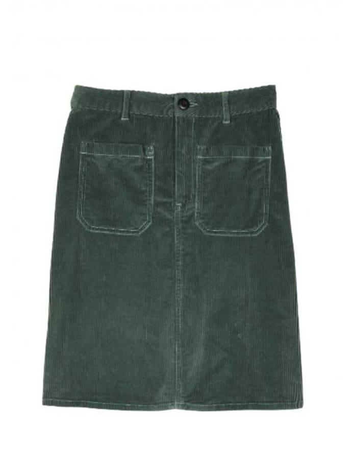 0fbf8785d682 Trouva: Green Jubile Velvet Cord Skirt