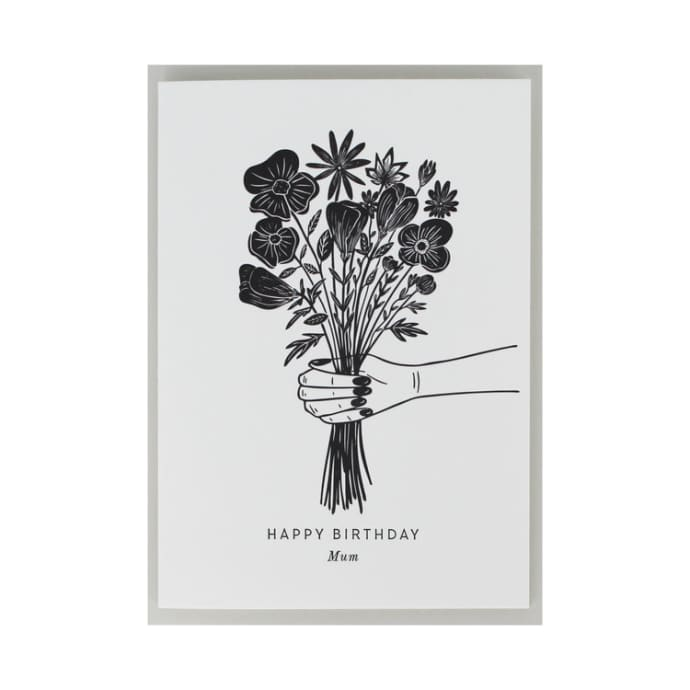 Artcadia Happy Birthday Mum Letterpress Greetings Card