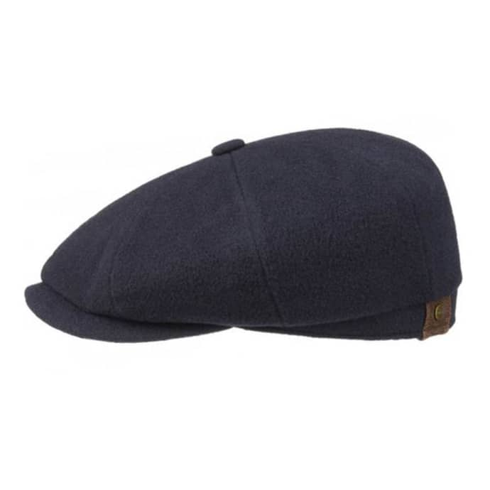 72811565 Trouva: Hatteras Navy Wool Cashmere Newsboy Cap