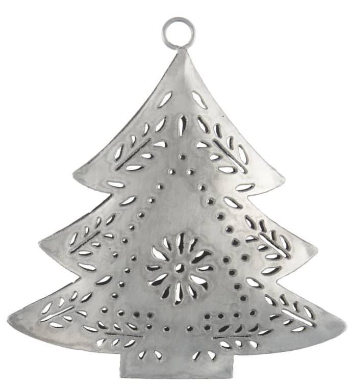 Ib Laursen Set Of 2 Metal Christmas Tree Shaped Ornaments