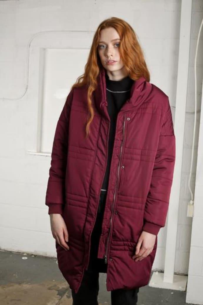 51b3d02b9 Native Youth Burgundy Nublu Puffer Jacket