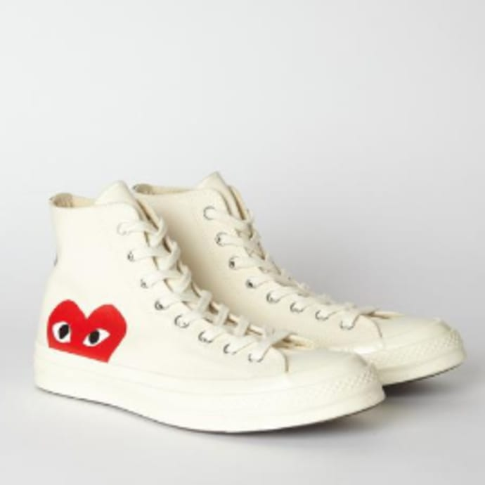 ca7a5569af799 Comme Des Garcons Play White PLAY X Converse 70s Chuck Taylor All Star High  Shoe