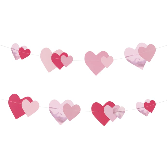 My Little Day Pink Heart Garland Decoration