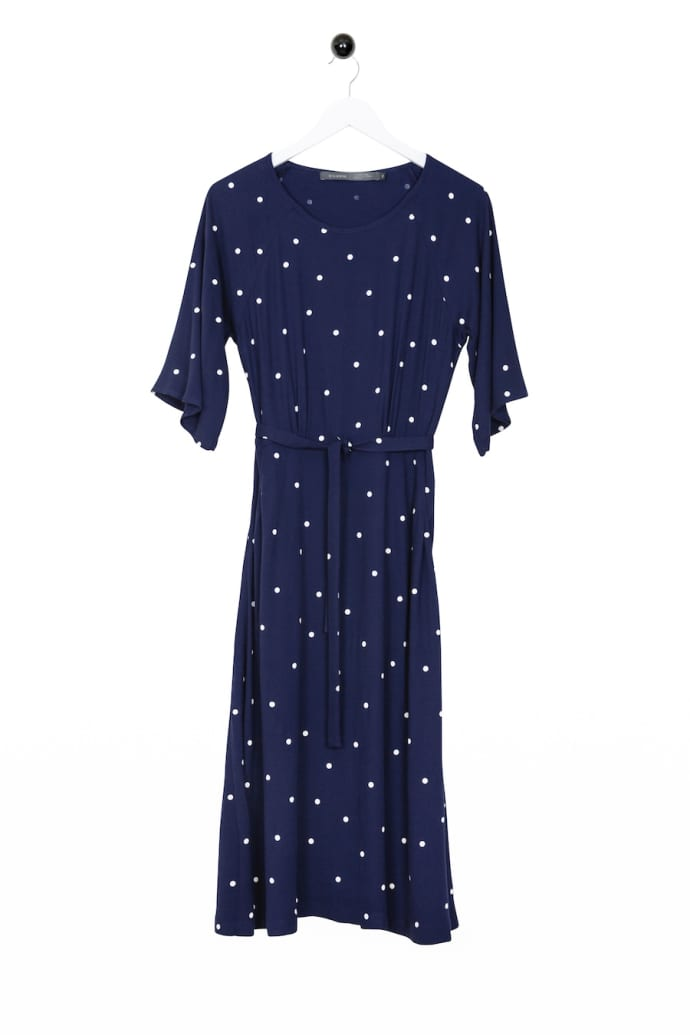 hot sale online 15e9e 81d0e Bric-a-brac Souirin Dress Blue White Dots