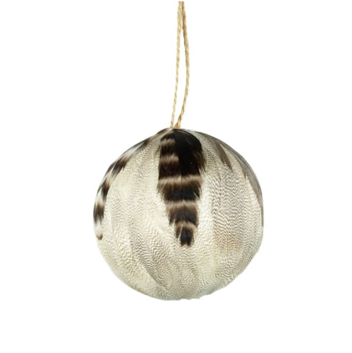 sale retailer ff05a 80174 Parlane Set Of 4 Tawny Feather Baubles