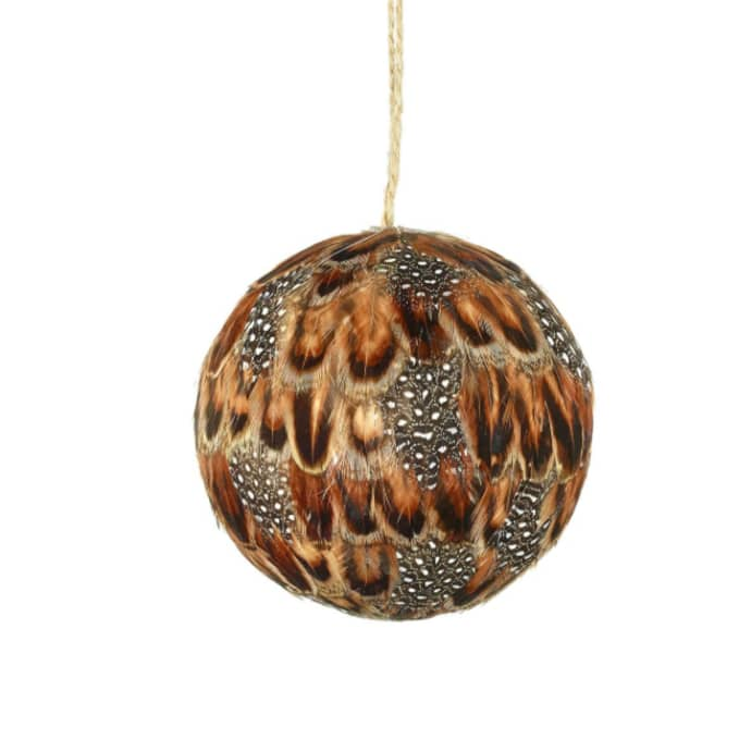 buy popular a5b4a 7e59b Parlane Set Of 4 Starling Feather Baubles