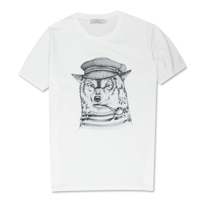 OLOW White Lobo De Mar T Shirt