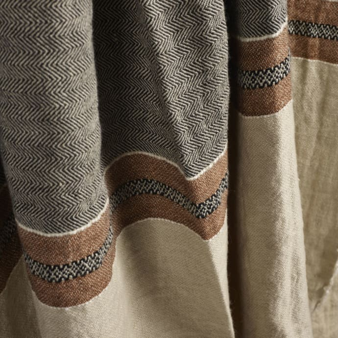 Libeco Plaid Beeswax Stripe The Belgian Linen Towel