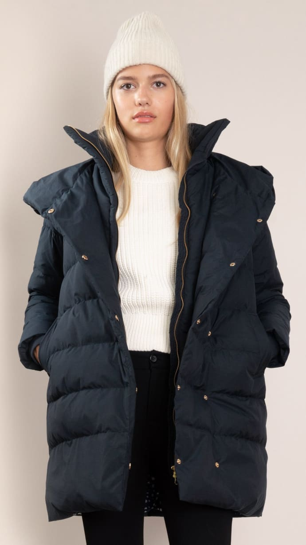 begehrteste Mode gehobene Qualität letzter Rabatt Spoom Navy Blue Bena Down Coat
