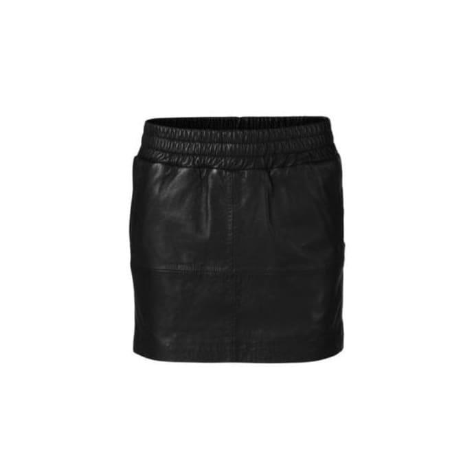 388a164af4 Trouva: Black Vera Leather Skirt
