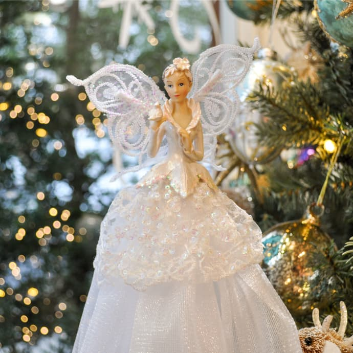 Trouva: Woodland Snow Fairy Christmas Tree Topper