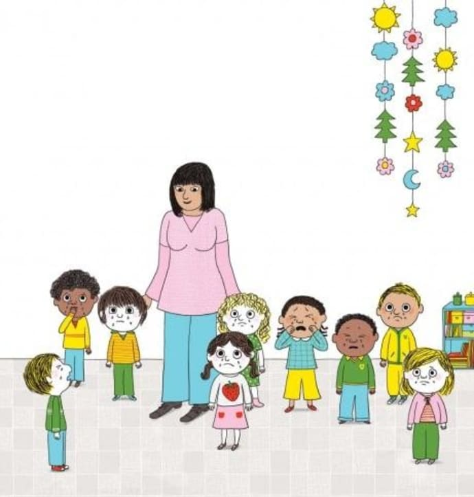 Goodbye Kindergarten Stockfotos und -bilder Kaufen - Alamy