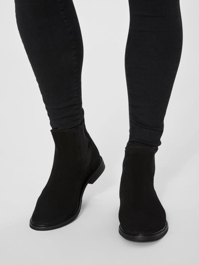 comprar diseño de calidad adecuado para hombres/mujeres Selected Homme Men's Black Chelsea Suede Boots