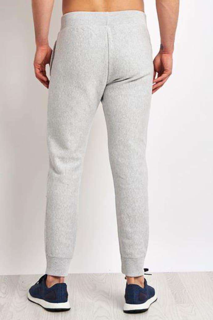 Small Activewear Pull Polaire avec Demi-Zip Homme Mid Grey Melange Gris