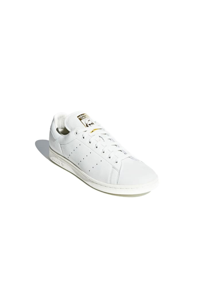 vente chaude en ligne dc50a c5c19 Adidas White Stan Smith Premium Blanche Shoes
