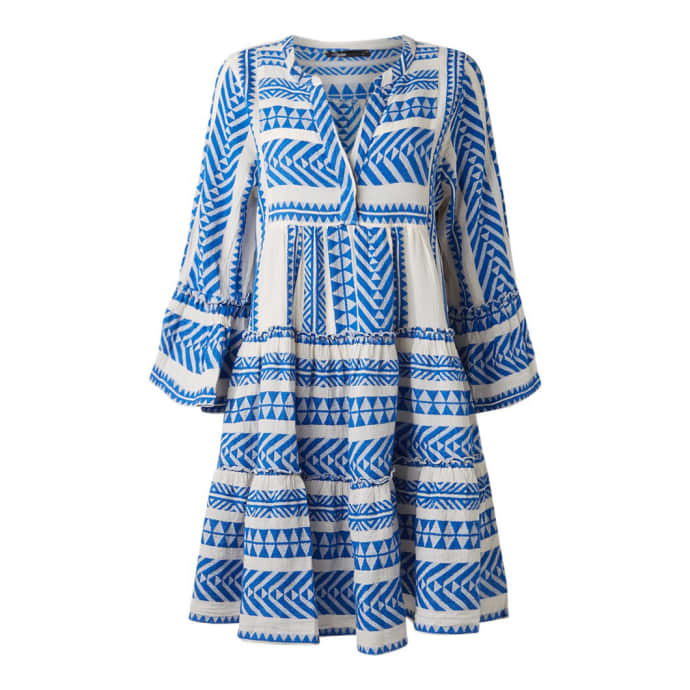 beste Auswahl an verkauft große Auswahl an Farben DEVOTION Blue Devotion Zakar Embroidery Dress