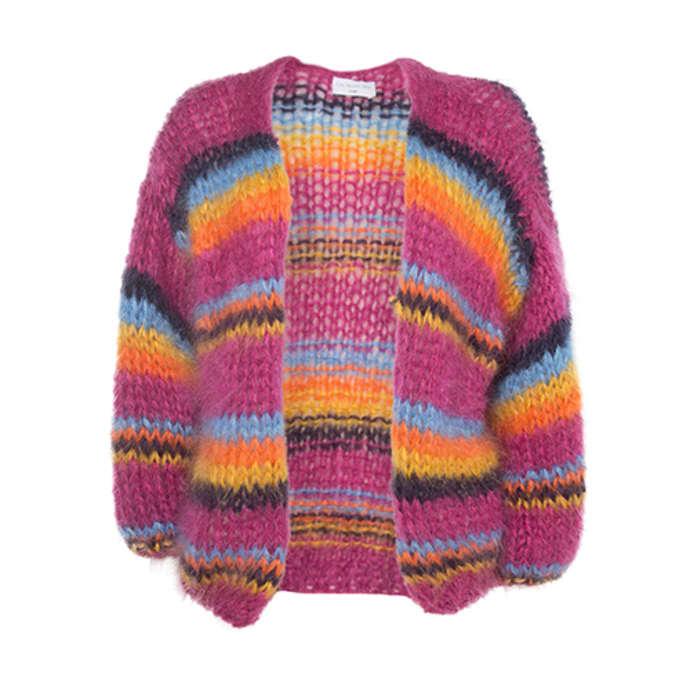 e485d434c49a Les Tricots d'O Violet Handmade Cardigan