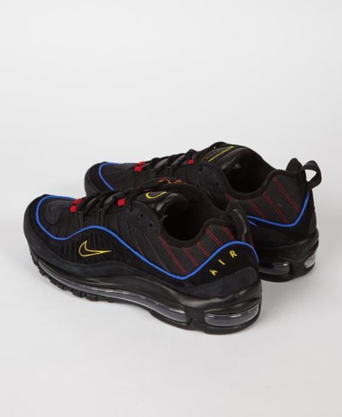 promo code 0e394 11a71 Nike Black Amarillo Red Air Max 98 Trainers