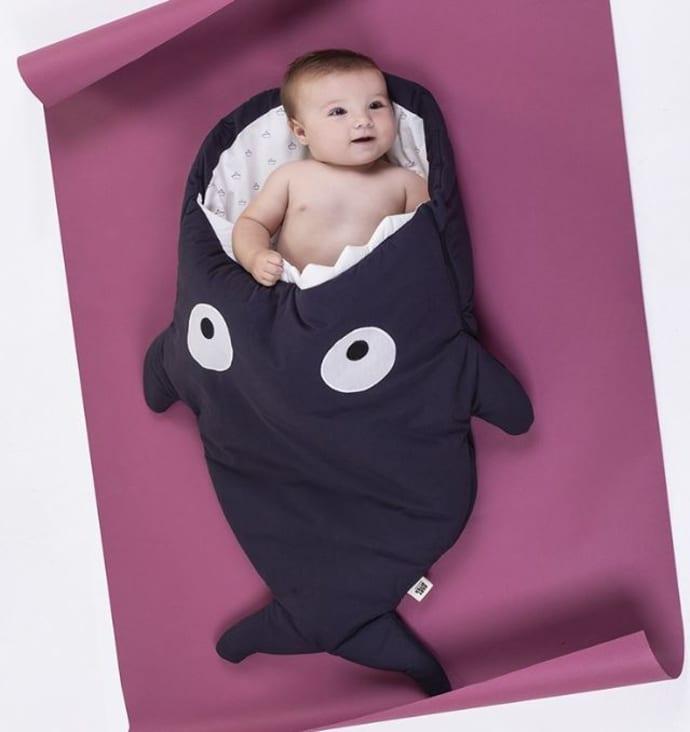 pretty nice bac45 f163c Baby Bites Black Shark Sleeping Bag