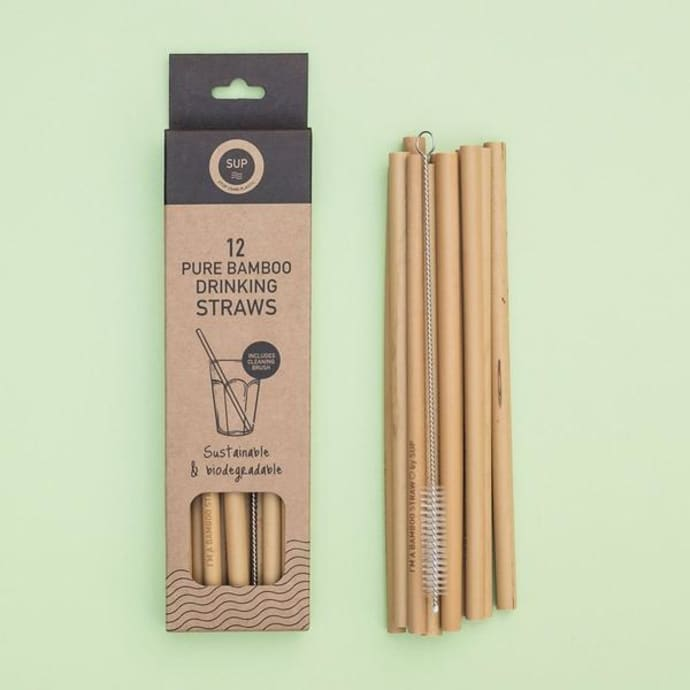 Cannucce Di Bamb.Sup Set Of 12 Bamboo Straws