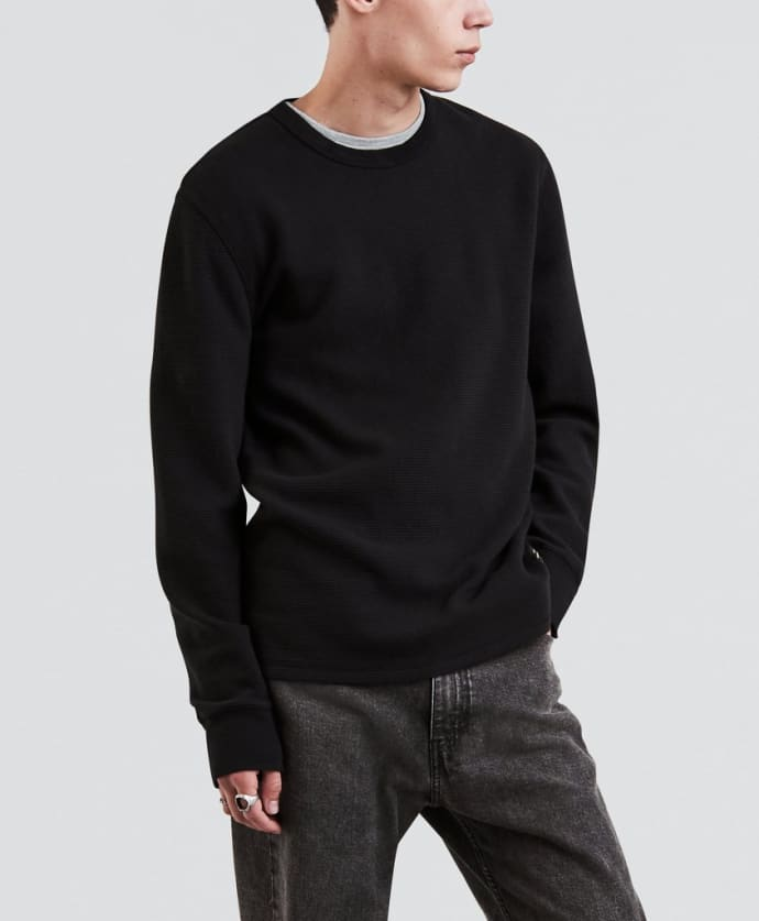 neue auswahl Gratisversand bieten viel Levi's Black Thermal Long Sleeve T-Shirt