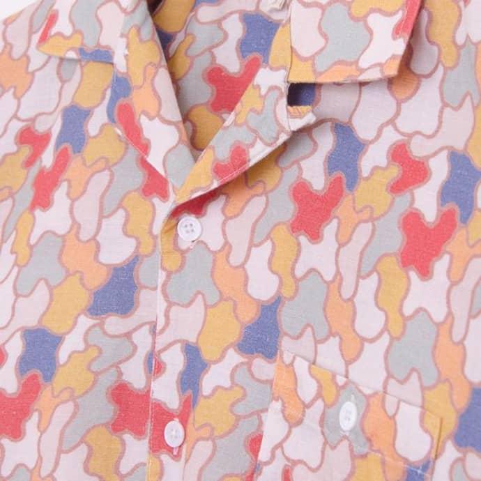 3dbbdecaa0bb7 Far Afield Jazz Camo Linen Selleck S S Shirt