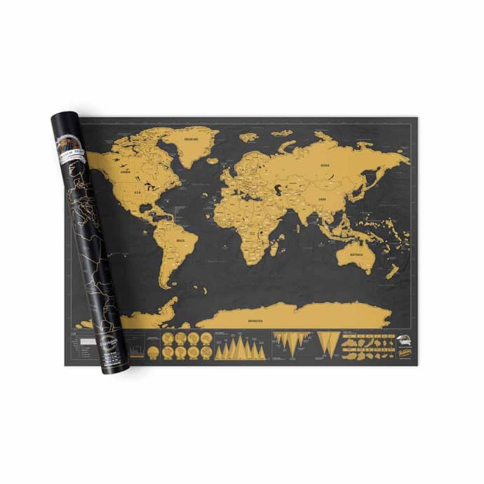 Luckies Of London Deluxe World Map Scratch Map®