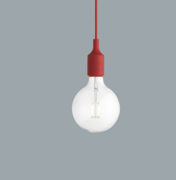 Red Muuto Lamp E27 E27 Pendant Lamp Red Muuto Pendant 5RjLqc34AS