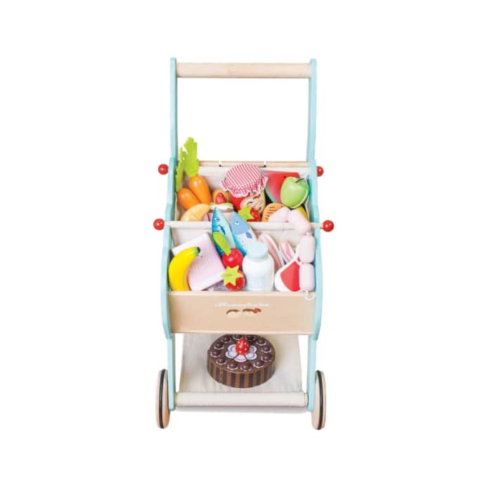 Le Toy Van Wooden Shopping Trolley Toy