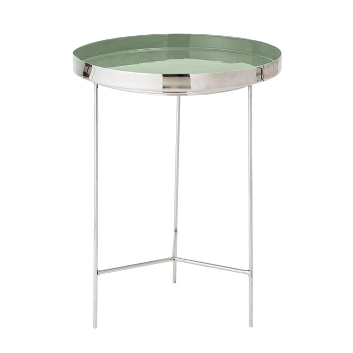 Bloomingville Mint Green Aluminium Side Table Tray