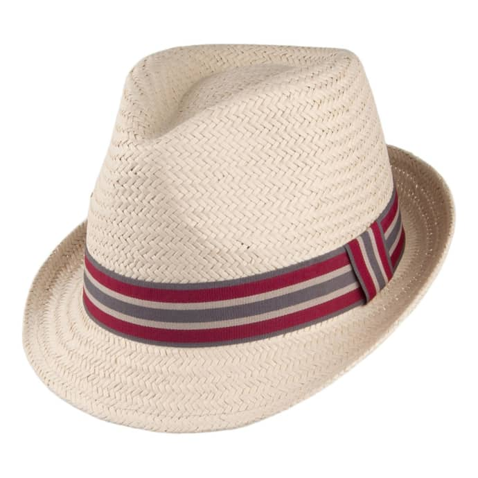 05ac28c75b996 Trouva  Natural Paper and Polyester Whitby Trilby Hat