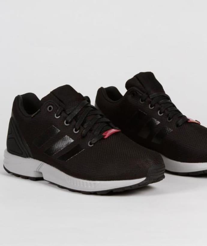 size 40 05d87 c6074 Adidas Core Black Nylon and Gore Tex Originals ZX Flux GTX Shoes