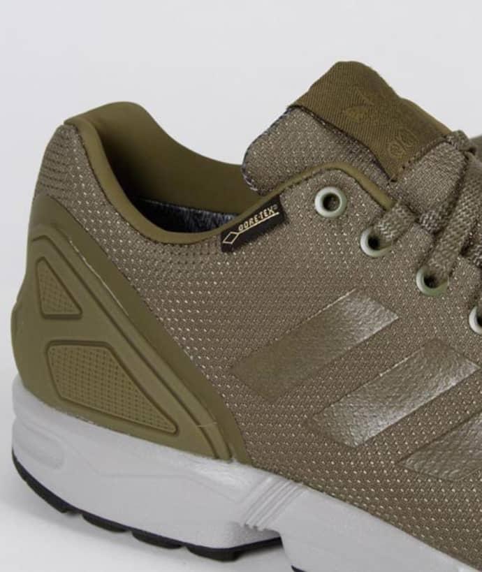 promo code d2394 9d1ef Adidas Olive Nylon and Gore Tex Originals ZX Flux GTX Shoes