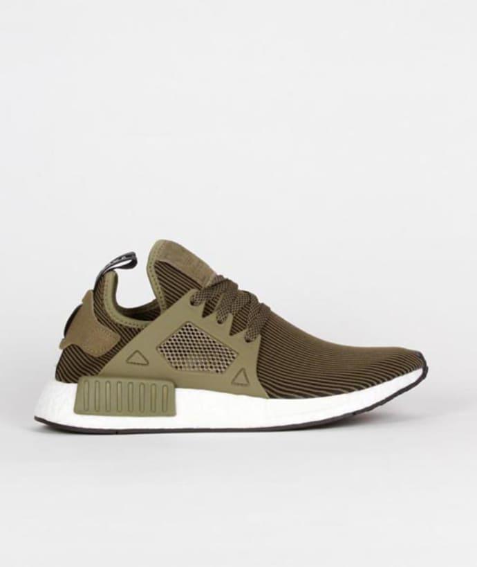 size 40 3edf8 b1a1d Adidas Olive Black Nylon Originals NMD XR1 PK Shoes