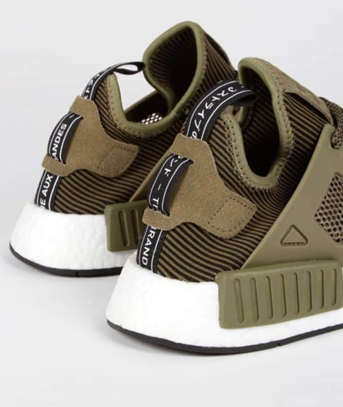 size 40 50d4d c80d2 Adidas Olive Black Nylon Originals NMD XR1 PK Shoes