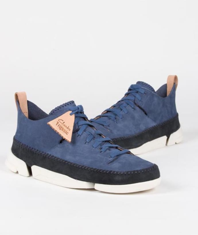 Clarks Originals Night Blue Nubuck Trigenic Flex Shoes