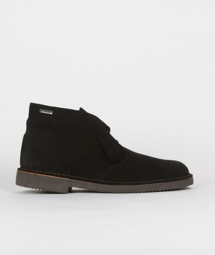 best selection of fine quality unequal in performance Clarks Originals Black Suede Desert Boot Gtx Shoes