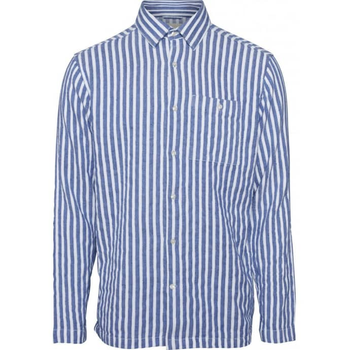 best service 578be be35a Knowledge Cotton Apparel 90745 Short Striped Shirt