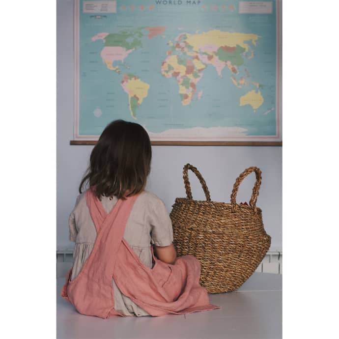 Linge Particulier Pink Lychee Linen Japanese Apron Kids on a whole world map, bamboo world map, lighting world map, discount fabric world map, mahogany world map, gold leaf world map, turtleneck world map, tomato world map, angora world map, bedding world map, animal print world map, orchid world map, burgundy world map, jewelry world map, mocha world map, lime world map, tobacco world map, rose world map, sage world map,