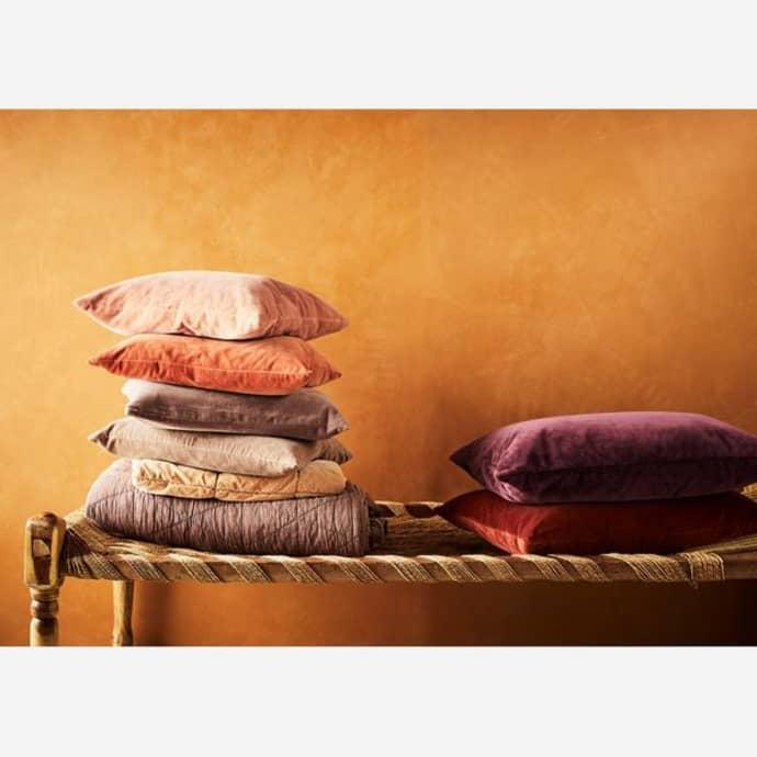 Madam Stoltz Large Velvet Cushion Cover Tandori Spice