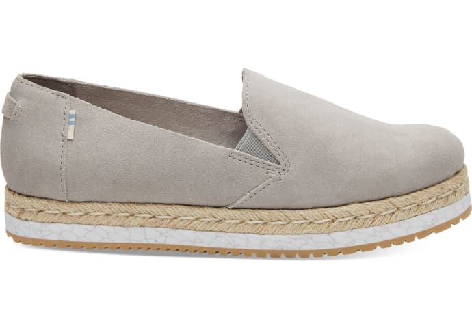 low priced 05219 da171 TOMS TOMS Womens Drizzle Grey Suede Palma