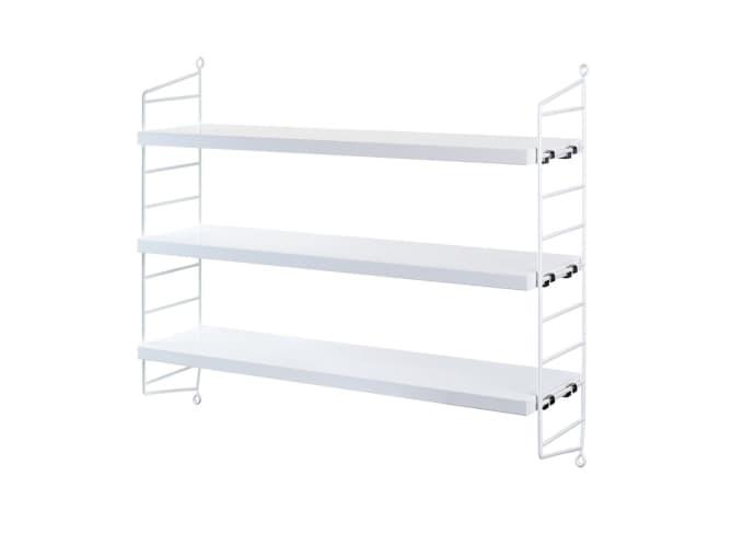 String 50 x 60 x 15cm White Pocket Shelf