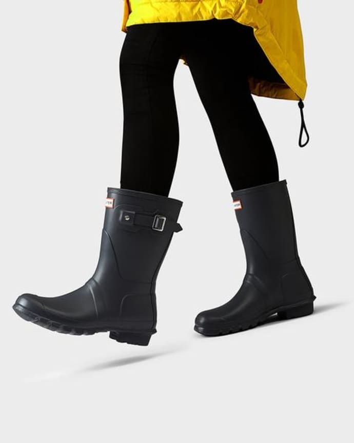 Mellow Concept Womens Original Short Wellington Boots Dark Slate Hunter Boots