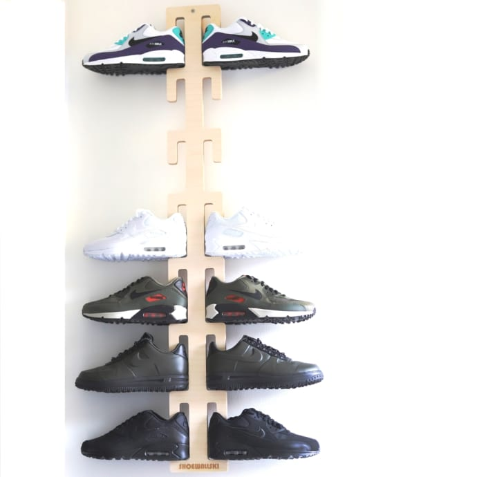 shoewallski Reverse Cactus Shoe Rack