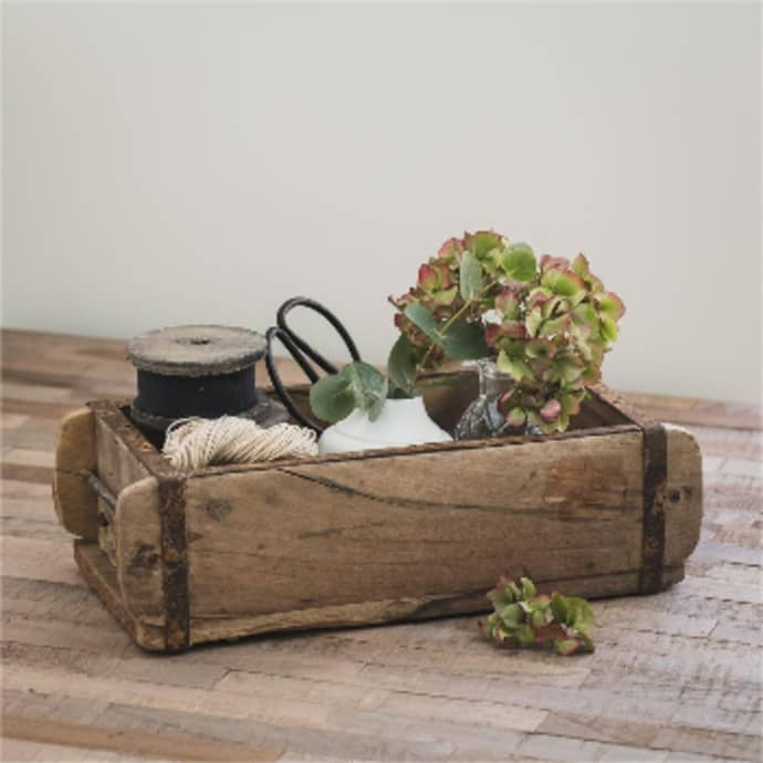 Wooden Reclaimed Brick Mould Storage Box Shelf