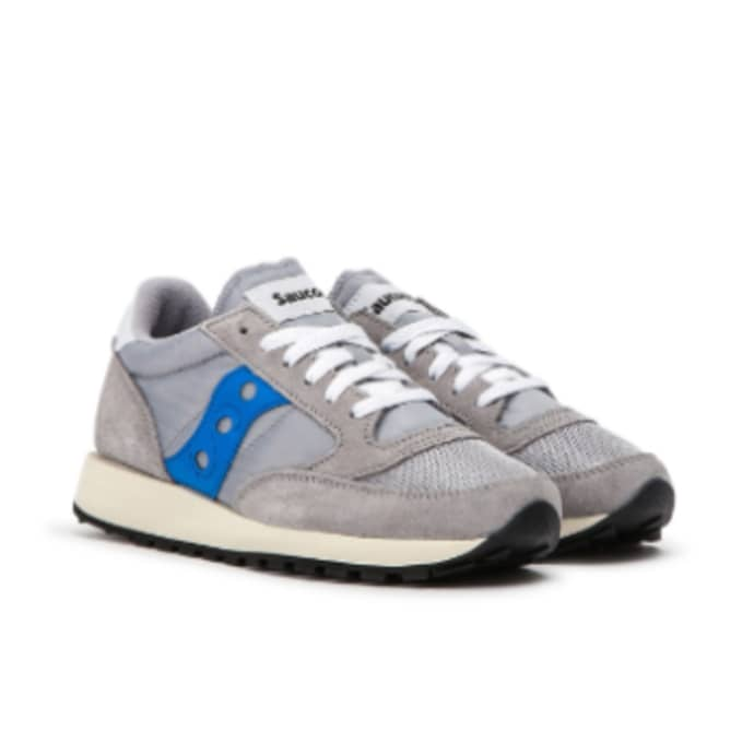 newest fb431 77593 Saucony Saucony Women Jazz Original Vintage GREY/BLUE