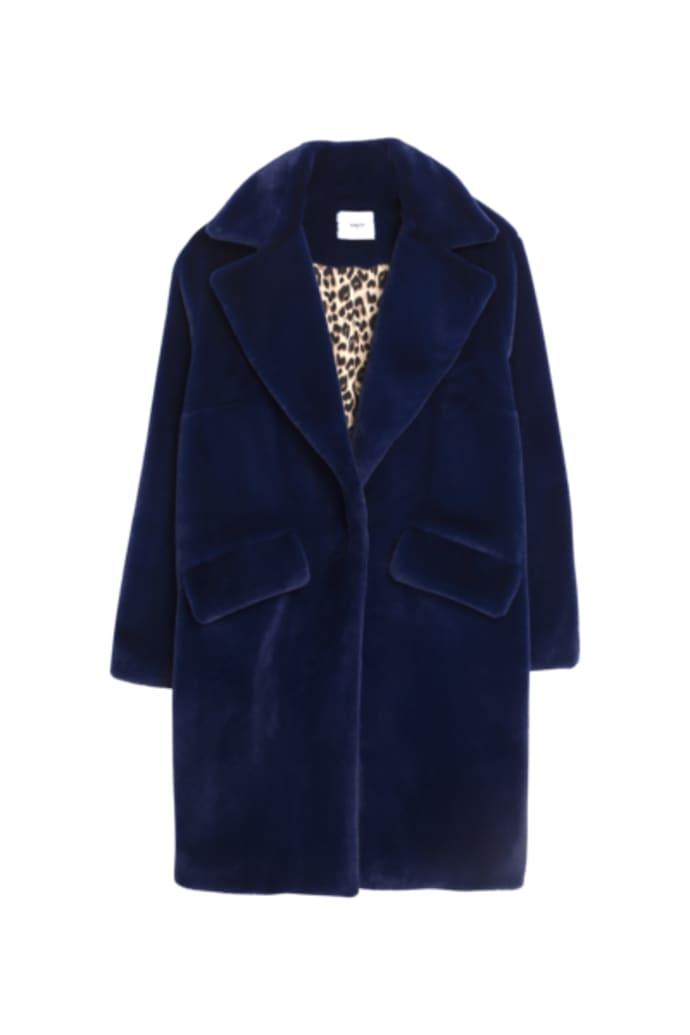 moins cher 12316 81763 SUNCOO Manteau Eddie Coat Blue