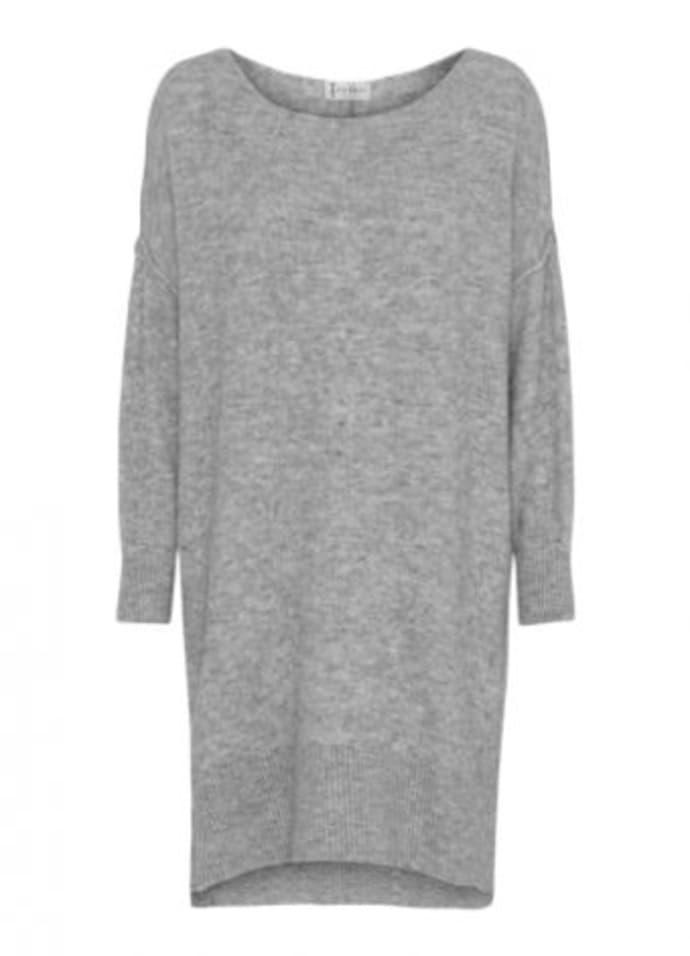 Tif Tiffy Light Grey Wool Cabena Oversized Sweater