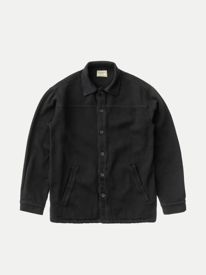 Black Nudie Jeans Co Elias Twill Overshirt